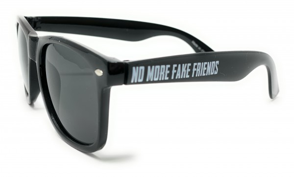Sonnenbrille, NO MORE FAKE FRIENDS, black