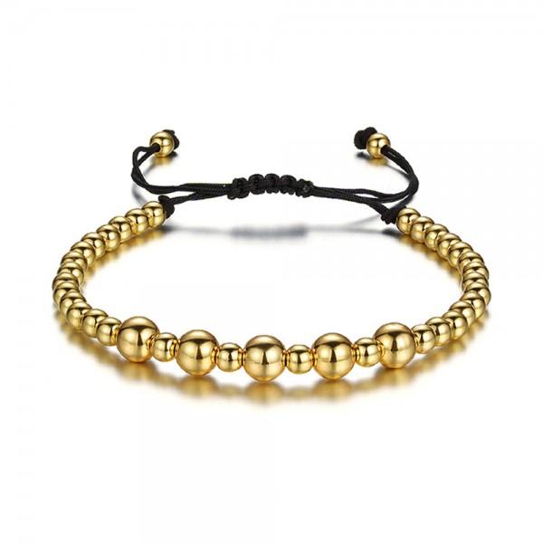 Armband - Perlen/goldfarben