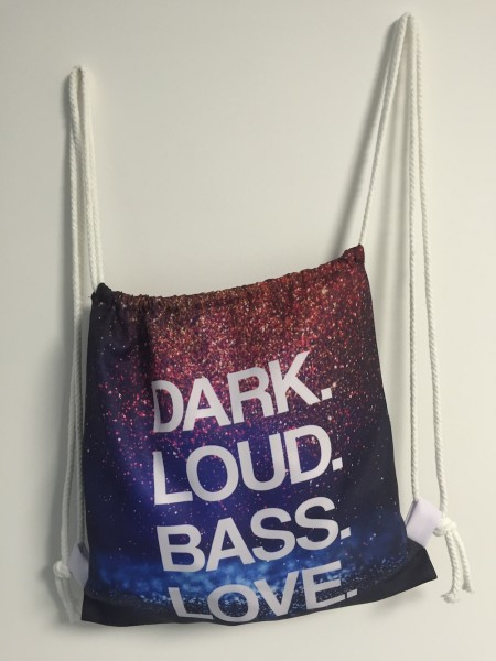 Sportbeutel/Rucksack, DARK LOUD BASS LOVE