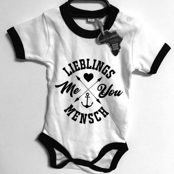 BABY Strampler - LIEBLINGSMENSCH, weiß/schwarz