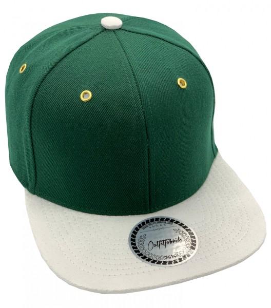 Cap BLANKO in grün/weiß