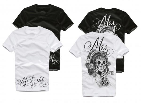 Shirt MRS. / MISTRESS, weiß oder schwarz