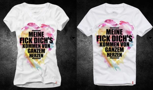 Shirt MEINE FICK DICH´S.. weiß