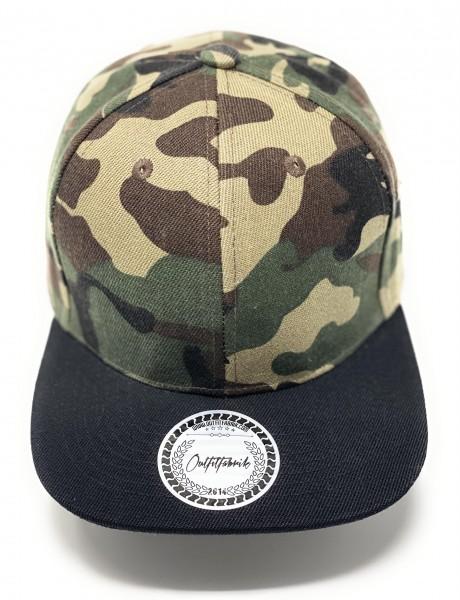 Cap BLANKO in camouflage/schwarz