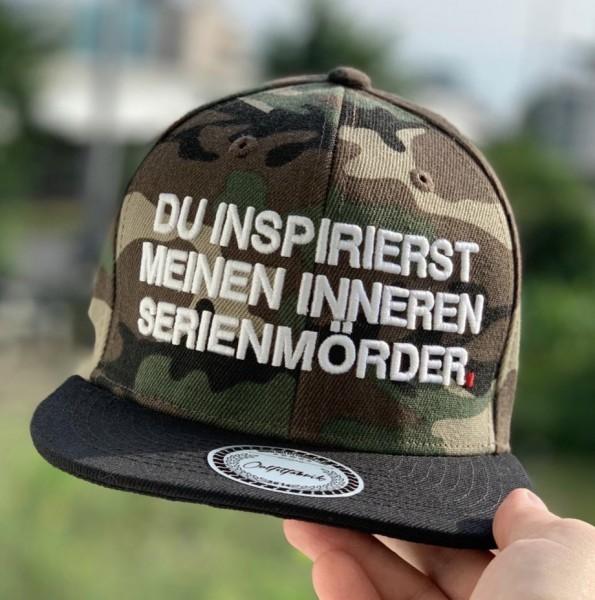 Cap DU INSPIRIERST MEINEN INNEREN SERIENMÖRDER, camouflage