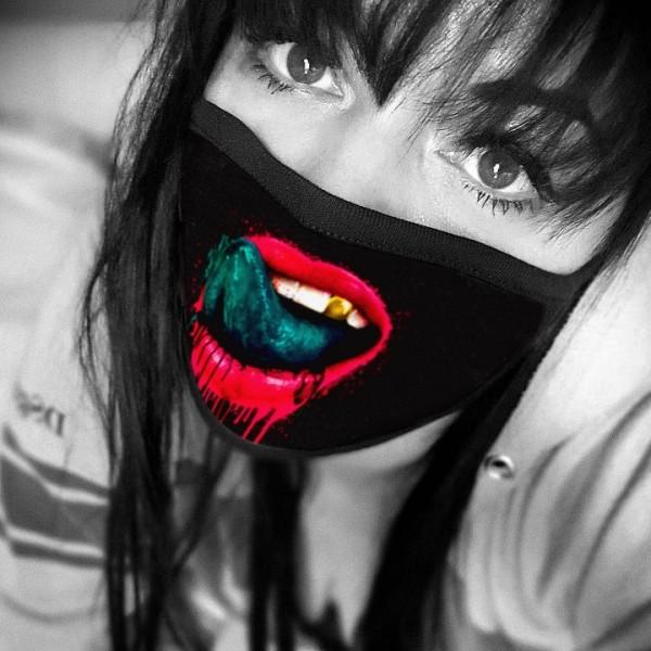 Nasen-Mund-Maske GOLDZAHN, schwarz