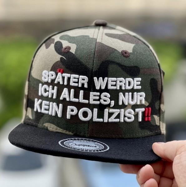 KIDS-Cap SPÄTER WERDE ICH KEIN POLIZIST camouflage/schwarz
