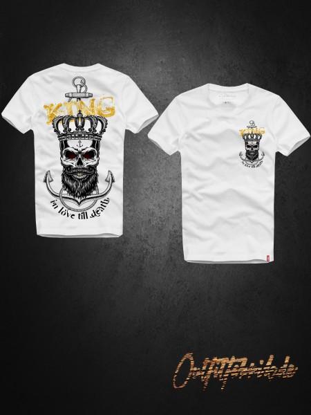 Shirt KING - ANCHOR, weiß