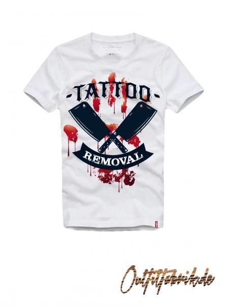 Shirt TATTOO REMOVAL, weiß